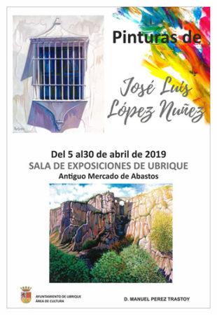 José Luis López Núñez muestra una selección de 71 pinturas en la sala de exposiciones del antiguo mercado de abastos