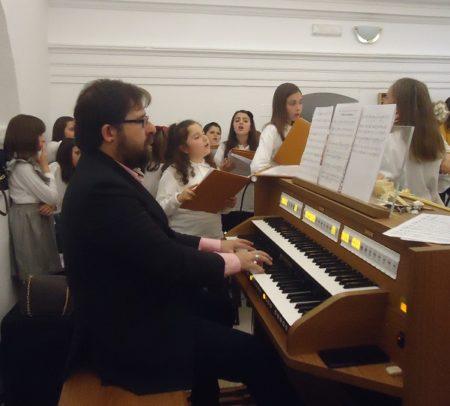 Daniel Borrego, durante la misa del Domingo de Ramos.