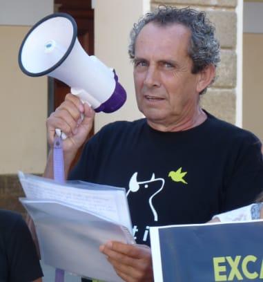 Manolo Cabello, en una manifestación.