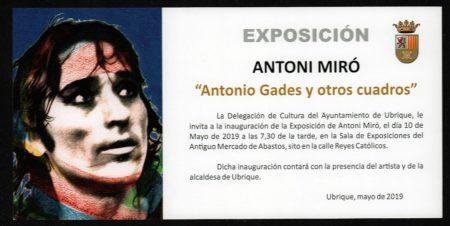 Muestra de Antoni Miró en la sala de exposiciones del antiguo mercado de abastos