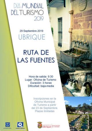 Cartel de la Ruta de las Fuentes.