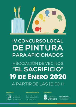 El IV concurso local de pintura para aficionados de la Asociación de Vecinos El Sacrificio, el 19 de enero