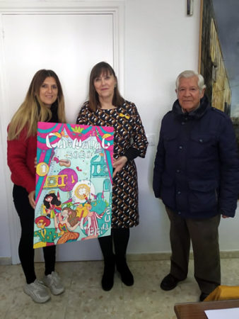 Un cartel de Estefanía Hernández Guerra anuncia el Carnaval de 2020