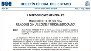 BOE nº 67 (14/3/2020).