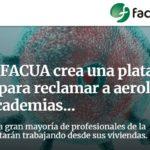 La asociación Facua-Consumidores en Acción abre una plataforma para reclamar gastos de servicios cancelados por la pandemia