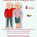 Servicio de voluntariado del Ayuntamiento para llevar alimentos o productos farmacéuticos a personas mayores