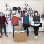 Comienza la distribución de mascarillas confeccionadas por empresas y voluntarios del sector marroquinero