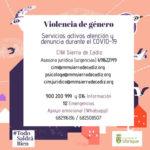 Servicios activos en Ubrique para atender denuncias por violencia de género durante el estado de alarma