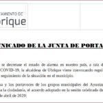 La junta de portavoces del Ayuntamiento acuerda gestionar la adquisición de mascarillas para todos los habitantes de Ubrique