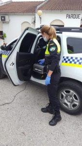 Cañón de ozono para vehículos policiales y de emergencias.