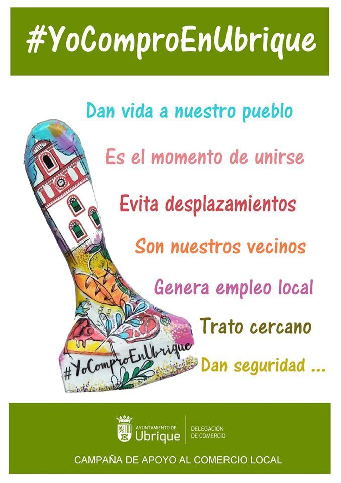 Cartel del Ayuntamiento de apoyo al comercio local.
