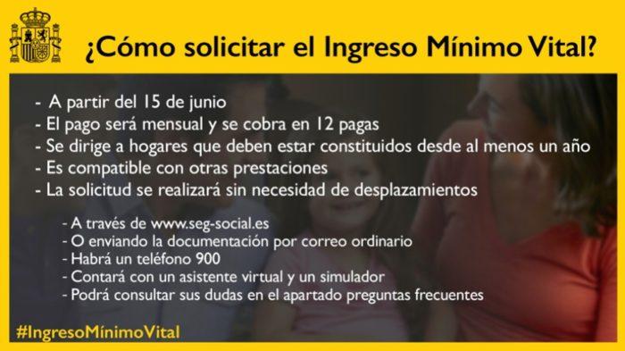 Instrucciones para solicitar el ingreso mínimo vital.