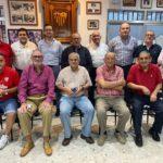 Los presidentes de la Peña Sevillista de Ubrique, reunidos el 15 de junio de 2020.