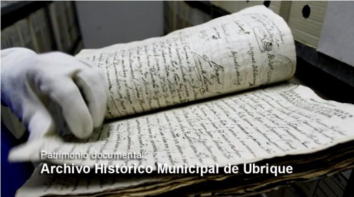 Legajo del Archivo Municipal de Ubrique.