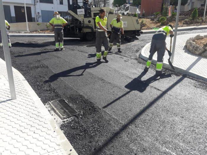 Obras en la extinta plaza Juan Carlos I.