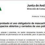 Comunicado de la Junta de Andalucia.