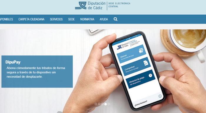 Sede electrónica de la Diputación.