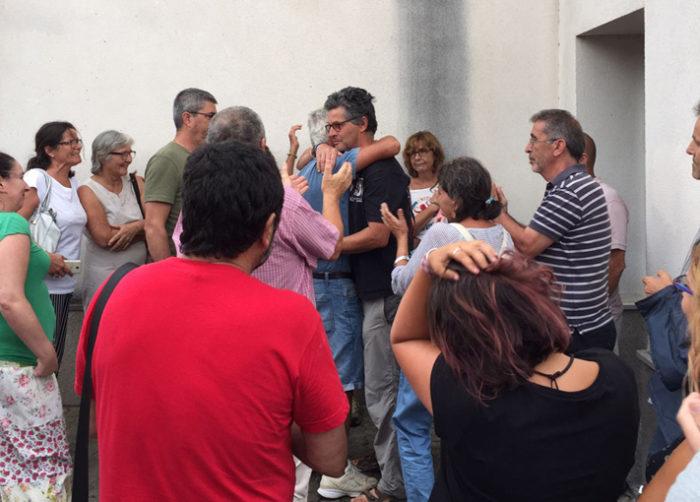 Juan Clavero, a la salida del Juzgado de Ubrique tras prestar declaración, en 2017.