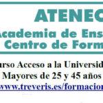 Curso preparatorio para acceso a la Universidad para mayores de 45 años