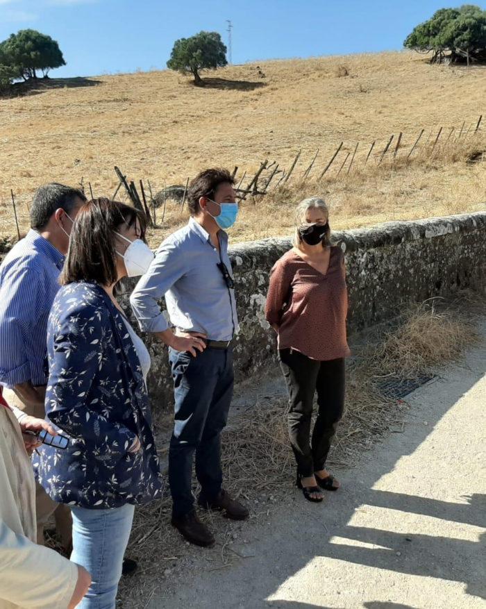 Participantes en la visita al Puente de Realejo.
