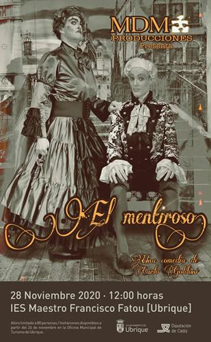 La obra teatral 'El mentiroso', a escena el sábado 28 de noviembre en el IES Maestro Francisco Fatou
