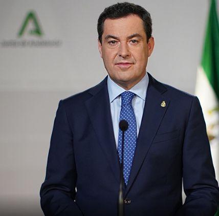 El presidente de la Junta, Juan Manuel Moreno.