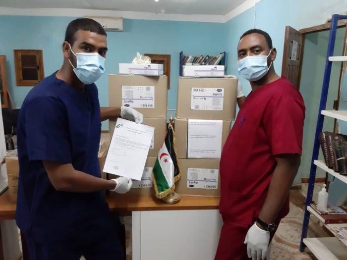 Material sanitario entregado al pueblo saharaui.