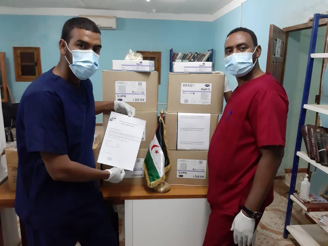 Llega material sanitario desde Ubrique hasta los campamentos de refugiados saharauis para combatir la pandemia