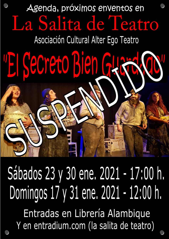 Suspendidas las funciones de teatro y cuentacuentos en La Salita de Teatro