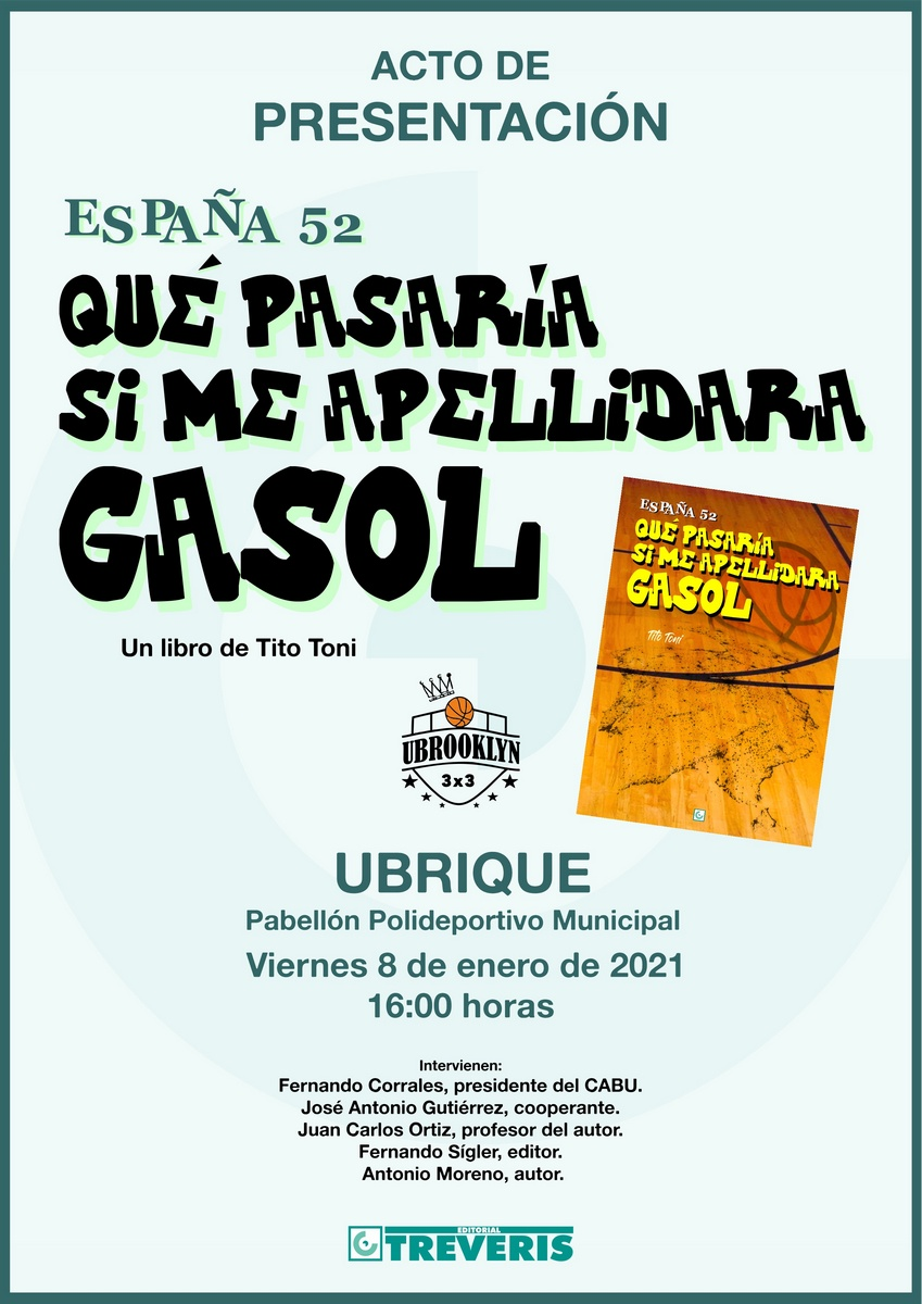 Tito Toni presenta el 8 de enero su libro <i>España 52. Qué pasaría si me apellidara Gasol</i>