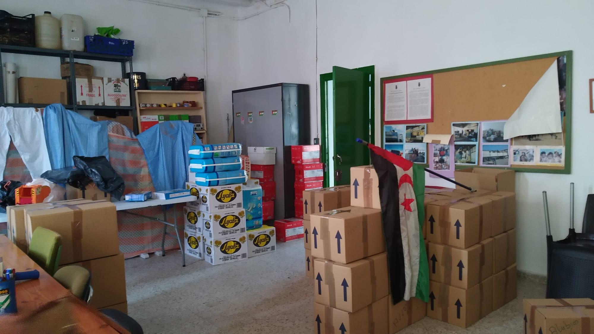Alimentos recogidos para su destino al pueblo saharaui.