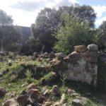 De la Casa del Pastor solo quedan los cimientos y el vestigio de una de las esquinas de sus muros.