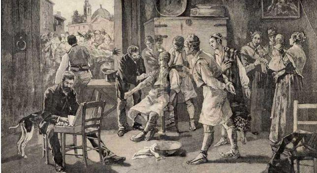 Vacunación en 1885.