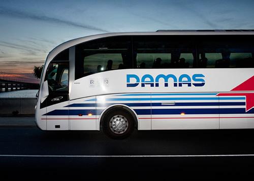 Autobús de la empresa Damas.
