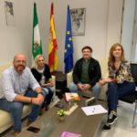 Miembros de C's de Ubrique, en el Instituto Andaluz de la Mujer previamente al estado de alarma.