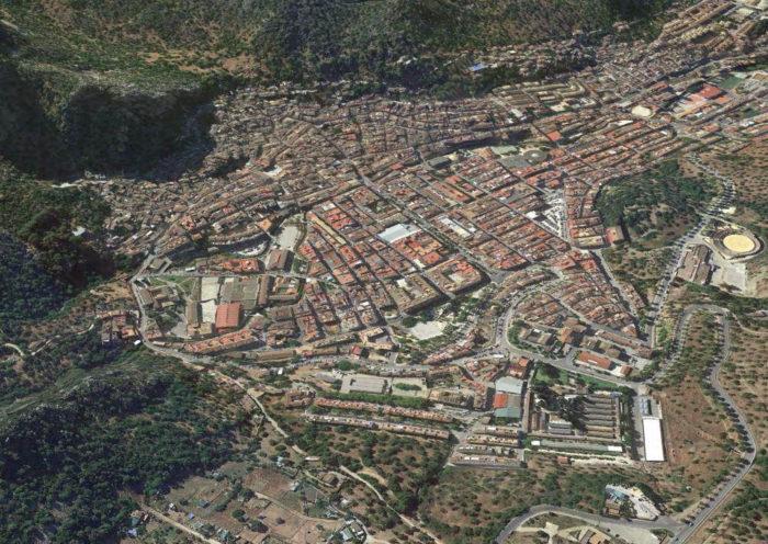 Vista aérea de Ubrique.