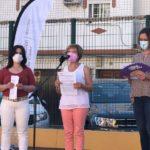 la diputada de Igualdad, Carmen Collado, y la alcaldesa, Isabel Gómez.