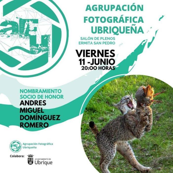 Cartel de la AFU anunciando el acto.
