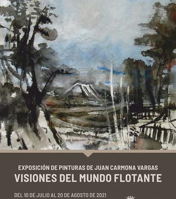 El pintor jerezano Juan Carmona Vargas expone sus Visiones del mundo flotante