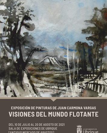El pintor jerezano Juan Carmona Vargas expone sus <i>Visiones del mundo flotante</i>